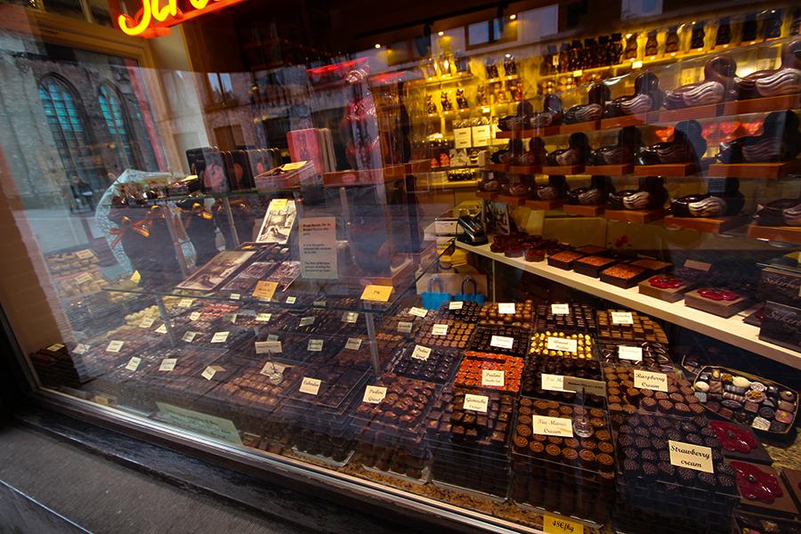 Çikolata dükkanı - Brugge